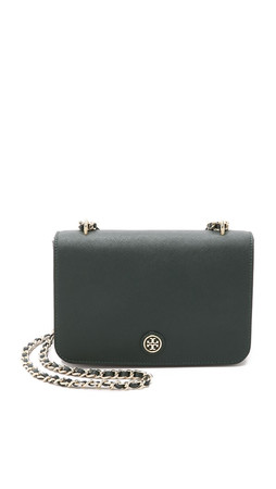 Tory Burch Robinson Adjustable Shoulder Bag - Jitney Green
