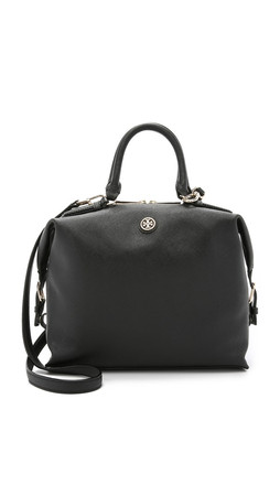 Tory Burch Robinson Small Slouchy Satchel - Black