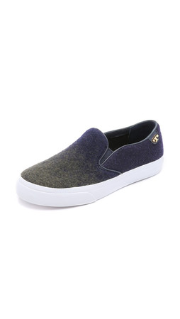 Tory Burch Stardust Slip On Sneakers - Navy/Olive