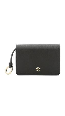 Tory Burch York Foldable Card Case - Black