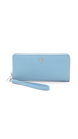 Tory Burch York Zip Continental Wallet - Fairview Blue