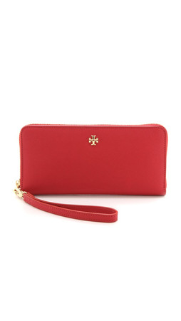 Tory Burch York Zip Continental Wallet - Kir Royale