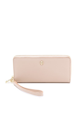 Tory Burch York Zip Continental Wallet - Light Oak