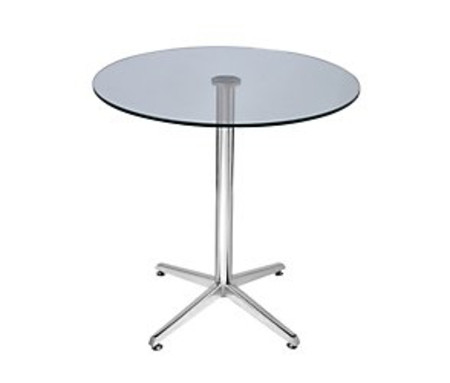 Treviso glass circular dining table