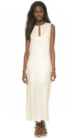 Twelfth St. By Cynthia Vincent Jalaba Maxi Dress - Ivory