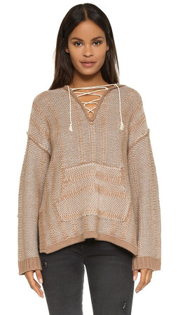 Twelfth St. By Cynthia Vincent Oversize Baja Hoodie - Camel