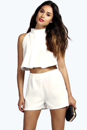 Tyra Two Piece Zip Off Playsuit ivory