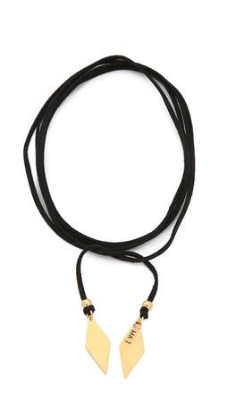 Vanessa Mooney Charm Wrap Necklace - Black/Gold