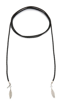 Vanessa Mooney Lights Out Necklace - Black/Silver