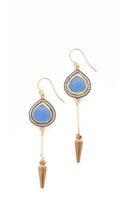 Vanessa Mooney Rhythm & Blues Earrings - Gold/Blue