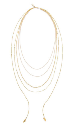 Vanessa Mooney The Love Letter Necklace - Gold