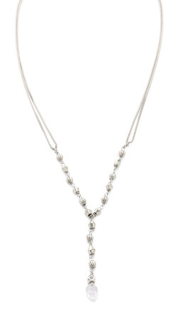 Vanessa Mooney The Thrill Rosary Necklace - Silver