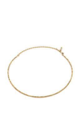 Vanessa Mooney The Tiny Bead Choker Necklace - Gold
