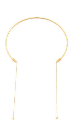 Vanessa Mooney Thunderstruck Choker Necklace - Gold