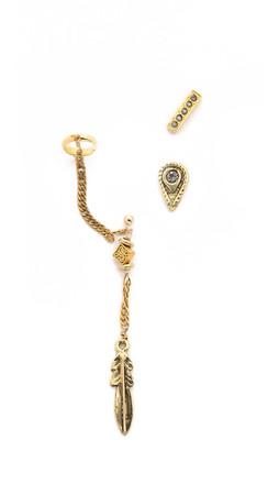 Vanessa Mooney Zeppelin Earring Set - Gold