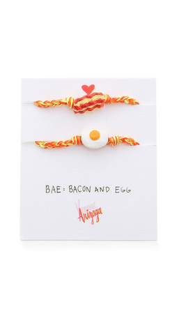 Venessa Arizaga Bacon + Eggs Friendship Bracelet Set - Tangerine