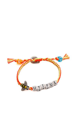 Venessa Arizaga Bee-Utiful Bracelet - Coral/Lemon