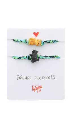 Venessa Arizaga Cat + Dog Friendship Bracelet Set - Blueberry
