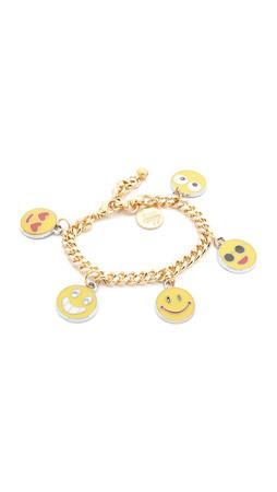 Venessa Arizaga Emoji Bracelet - Gold Multi