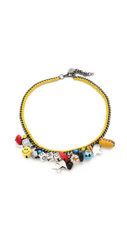 Venessa Arizaga Mira Mikati All Star Necklace - Mustard Yellow Multi