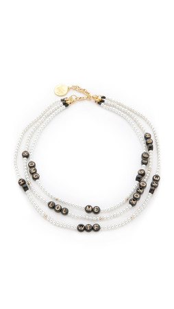 Venessa Arizaga Say What Necklace - Pearl Multi
