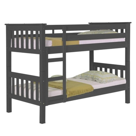 Verona Design Barcelona Graphite Single Bunk Bed - 90x190cm