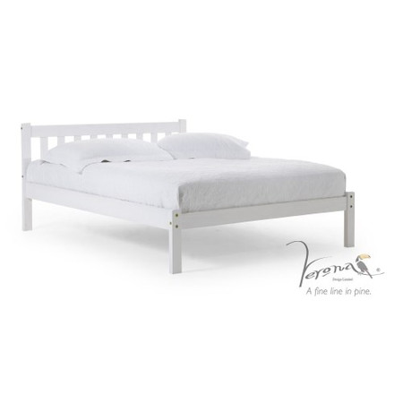 Verona Design Belluno Single Bed Frame in White