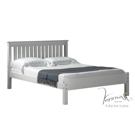 Verona Design Ltd Shaker Kingsize Bed Frame in Whitewash Pine