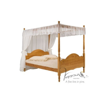 Verona Design Veneza Kingsize 4 Poster Bed Frame in Antique Pine