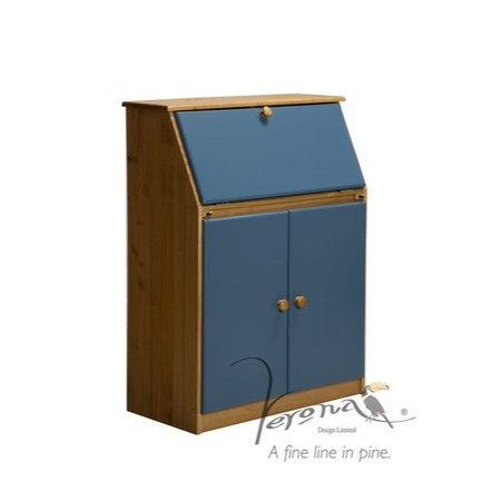Verona Design Verona Hobby Desk in Antique Pine and Blue
