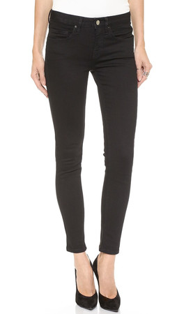 Victoria Beckham Ankle Slim Jeans - Solid Black