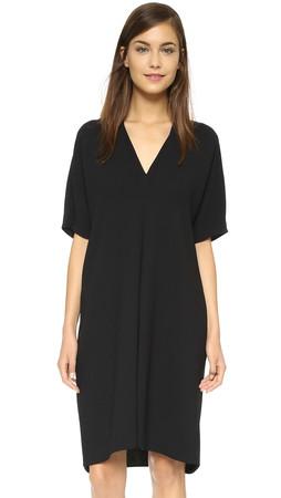 Vince Inverted Pleat Dress - Black