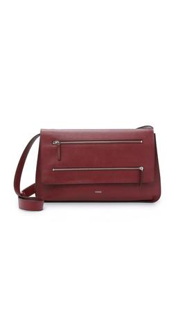Vince Medium Zip Bag - Bordeaux