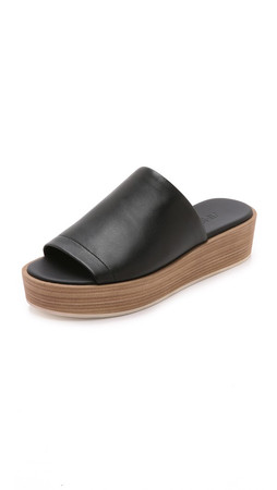 Vince Saskia Flatform Slides - Black