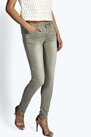 Washed Stretch Jeans khaki