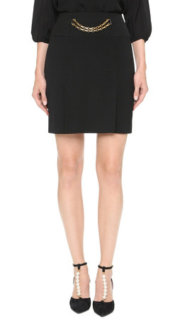 What Goes Around Comes Around Celine Chain Skirt (Previously Owned) - Black