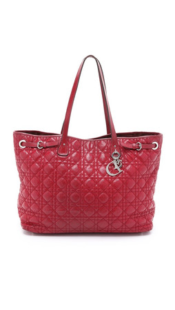 What Goes Around Comes Around Dior Canvas Bag (Previously Owned) - Red