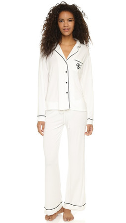 Wildfox Morning Person Pj Set - Vanilla/Black