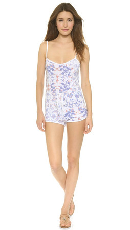 Wildfox Paisley Pool Party Romper - Multi
