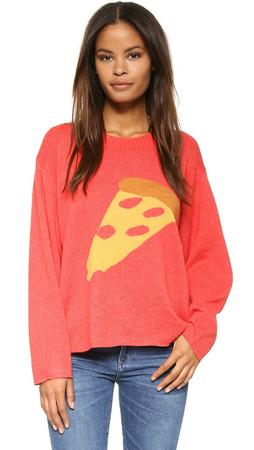Wildfox Pizza My Heart Vineyard Sweater - Marinara
