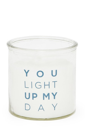 You Light Up My Day Candle - Blue
