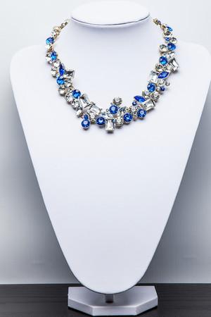 Zara Blue & Silver Jewelled Necklace