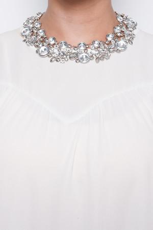 Zara Silver Statement Necklace