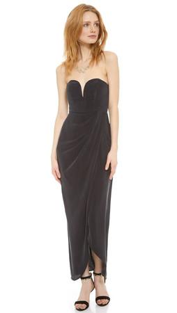 Zimmermann Strapless Drape Maxi Dress - Black