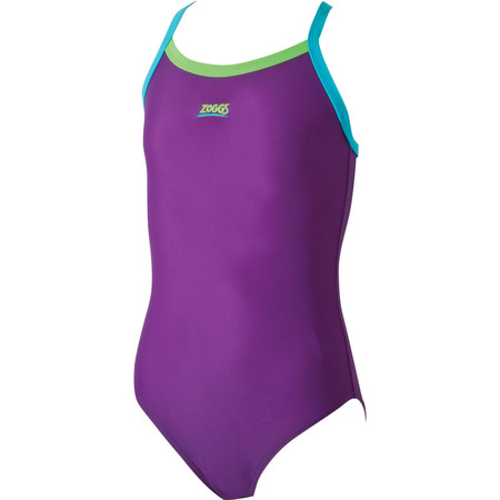 Zoggs Girls Mermaids Strikeback Swimsuit  - 14-15 Years Purple