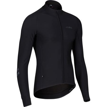 dhb ASV Roubaix Long Sleeve Jersey Black Edition - Extra Extra Large