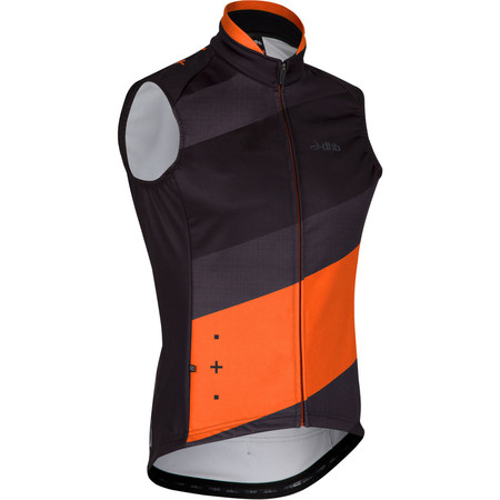 dhb ASV Thermal Gilet - Medium Black/Orange | Cycling Gilets