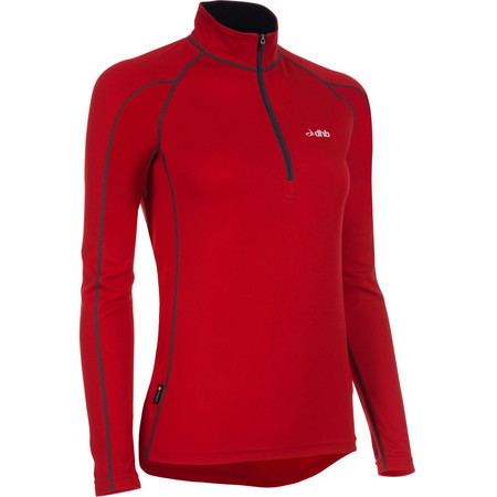 dhb Women's Active Long Sleeve Zip Neck Base Layer - UK 10 Red