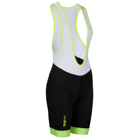 dhb Women's Blok Fluoro Cycle Bib Shorts - UK 16 Fluro Yellow