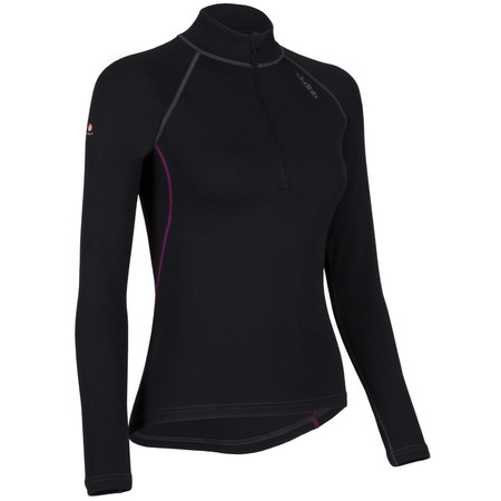 dhb Women's Corefit Plus Zip Neck Base Layer - UK 8 Charcoal